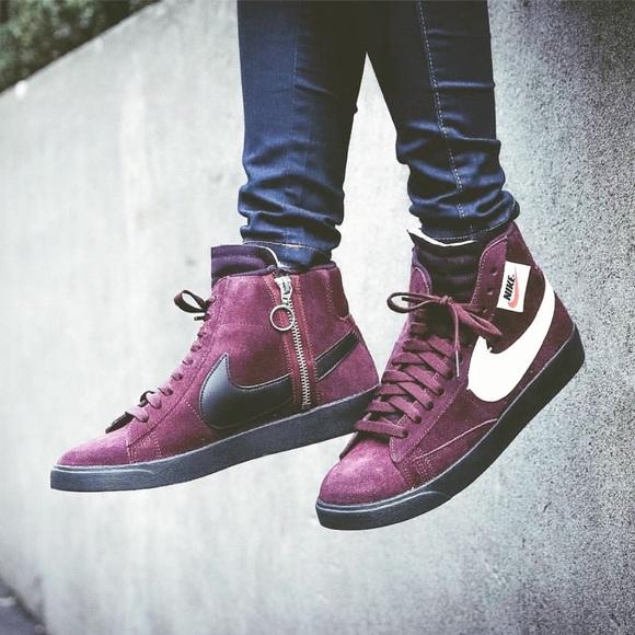 reputable site 5d5a2 8e288 SALE Nike   Blazer Mid Rebel Sneaker in Burgundy